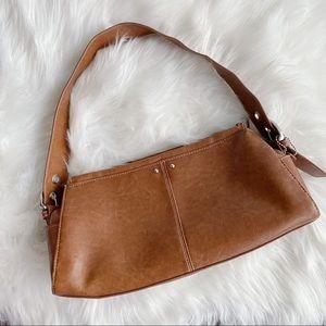 2/25 🍉 brown leather shoulder bag